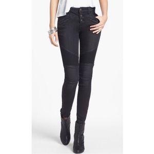 Free People Millennium Moto Skinny Jeans size 24